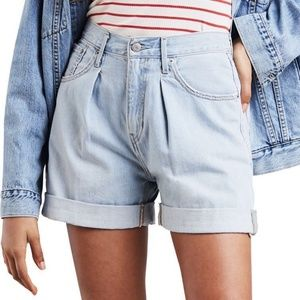 Levi's Baggy Pleated Mom Shorts